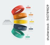 Ring infographics 3d vector data presentation template | Shutterstock vector #543789829