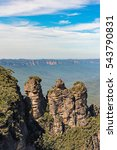 three sisters rock formation in ... | Shutterstock . vector #543790831