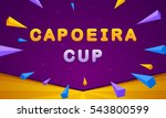 capoeira cup banner. triangle... | Shutterstock .eps vector #543800599