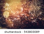 fireworks at new year and copy... | Shutterstock . vector #543803089