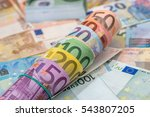 Background Of Lots Mixed Euro...