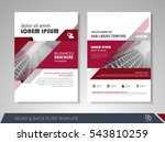 red annual report brochure... | Shutterstock .eps vector #543810259