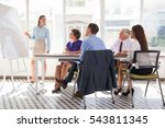confident businesswoman... | Shutterstock . vector #543811345