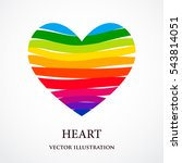 rainbow heart consisted of... | Shutterstock .eps vector #543814051
