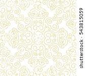 seamless vintage wallpaper.... | Shutterstock .eps vector #543815059