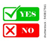 yes and no check marks. vector... | Shutterstock .eps vector #543817561