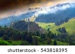 misty spring pieniny   poland | Shutterstock . vector #543818395