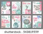 collection of romantic and love ... | Shutterstock .eps vector #543819559