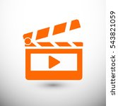 clapper board  icon. one of set ... | Shutterstock .eps vector #543821059