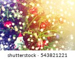 christmas background | Shutterstock . vector #543821221