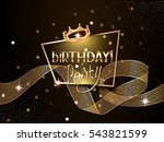 birthday elegant greeting card  ... | Shutterstock .eps vector #543821599