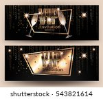 vip gold banners with... | Shutterstock .eps vector #543821614
