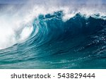 a perfect big breaking ocean... | Shutterstock . vector #543829444