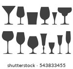 set of wine glasses icons... | Shutterstock .eps vector #543833455
