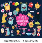 Funny And Crazy Monsters Set O...