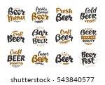 beer logo. vector labels and... | Shutterstock .eps vector #543840577