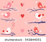 cute valentine day design... | Shutterstock .eps vector #543844051