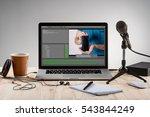 an ordinary workplace of a... | Shutterstock . vector #543844249