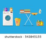 laundry room with washing... | Shutterstock .eps vector #543845155