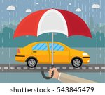 hand with umbrella that... | Shutterstock .eps vector #543845479
