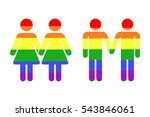 gay lgbt rainbow icons white | Shutterstock .eps vector #543846061