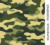 camouflage pattern background.... | Shutterstock .eps vector #543848965