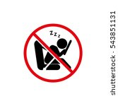 don't drive tired   vector... | Shutterstock .eps vector #543851131