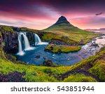 summer sunset on famous... | Shutterstock . vector #543851944