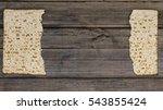 two pieces of matzah or matza... | Shutterstock . vector #543855424