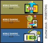 mobile banking concept icon.... | Shutterstock .eps vector #543857041
