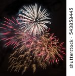 colorful fireworks and salute... | Shutterstock . vector #543858445