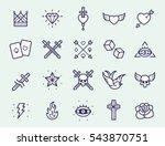 vintage old school tattoo... | Shutterstock .eps vector #543870751