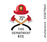 firefighter emblem with vector... | Shutterstock .eps vector #543879865