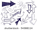 collection of hand drawn doodle ... | Shutterstock .eps vector #54388114