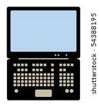 laptop computer  vector... | Shutterstock .eps vector #54388195