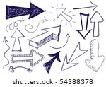 collection of hand drawn doodle ... | Shutterstock . vector #54388378