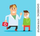 dentist cartoon character.... | Shutterstock .eps vector #543884545