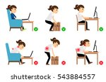 woman cartoon character sitting ... | Shutterstock .eps vector #543884557