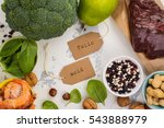 healthy food  sources of folic... | Shutterstock . vector #543888979