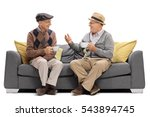 seniors sitting on a sofa and... | Shutterstock . vector #543894745