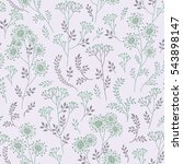 floral pattern with leaves and... | Shutterstock .eps vector #543898147