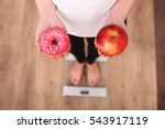 diet. woman measuring body... | Shutterstock . vector #543917119