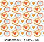 seamless valentines day... | Shutterstock .eps vector #543923431