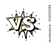 versus letters or vs logo... | Shutterstock . vector #543925585