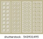 decorative doodle lace borders... | Shutterstock .eps vector #543931495