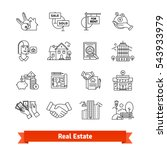 real estate thin line art icons ... | Shutterstock .eps vector #543933979