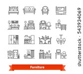 furniture   home decor. thin... | Shutterstock .eps vector #543934069