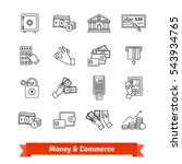 money and commerce icons thin... | Shutterstock .eps vector #543934765