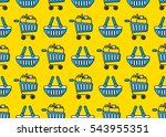 shopping trolley  bags and... | Shutterstock .eps vector #543955351