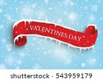 valentine's day.the red scroll. | Shutterstock .eps vector #543959179